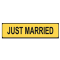 Bilskylt - Just Married - Gul