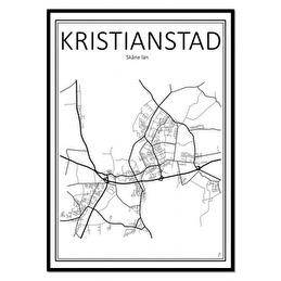 Tavla Poster Kristianstad Karta 50x70 -