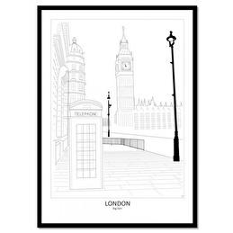 Tavla Poster Street View London 50x70 -