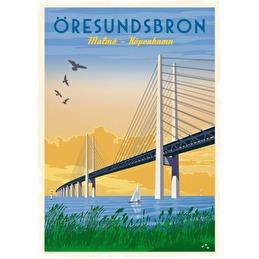 Tavla Poster Öresundsbron 50x70 -