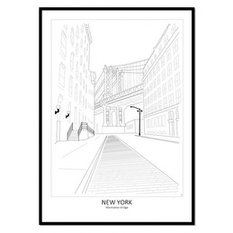 Tavla Poster Street View New york 50x70 -