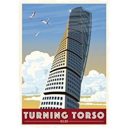 Tavla Poster Turning Torso 50x70 -