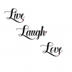 Kort 13x18 - Kort 13x18 Text: Live, laugh, love