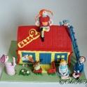 Barntårta Pippis hus