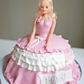 Barntårta Barbie pink