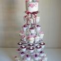 Bröllopscupcakes kavalkad