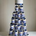 Blå Bröllopscupcakes