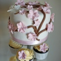Bröllopscupcakes körsbärsblom