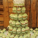 Bröllopscupcakes gröna