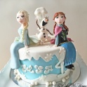 Barntårta Elsa & Anna & Olof Frost