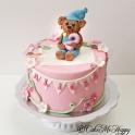 Barntårta - Bamse rosa