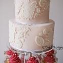 Bröllopscupcakes vintage