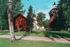 Lånad bild - Leksands kyrka och björkallen