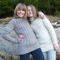 Big Sweater for children 80% angora