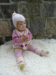 Babytröja med nyponrosor 50% angora