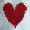 Angora med hjärtat - Stickbeskrivning