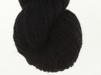 Svart black 50% angora / 50% merino, 7g, 20g eller 100g - 7g