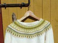 """""""Lemon, white"""" pullover. Photo P. Silfverberg"""