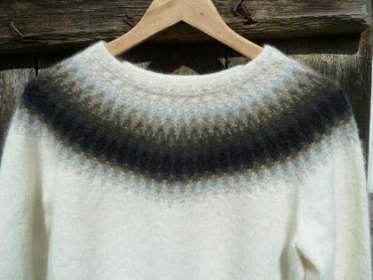 """Regnmoln"" pullover. Photo P. Silfverberg"