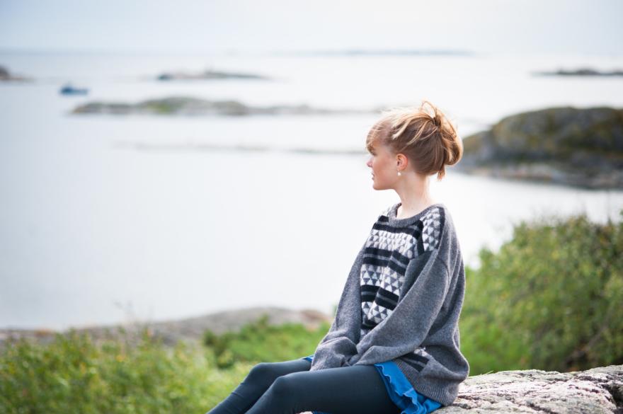 """""""Fjäll"""" herr jumper. Foto Karin Björk"""