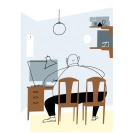 Illustration för tidningen Affärsvärlden