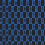 blå baggar rutmönster