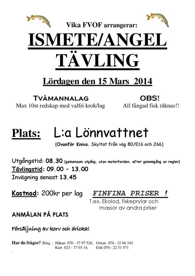 Ismete/angeltävling 2014