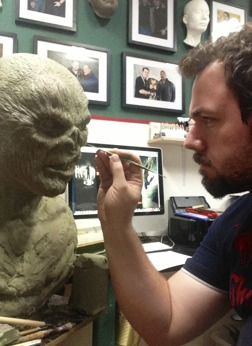 """Our new """"Camp Killer bust"""" in sculpting progress"""