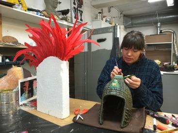 Resin helmet in painting progress