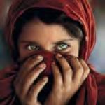 afgan girl hiding face