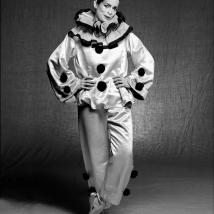 Clive arrowsmith Bianca-Jagger-Clown-1V2,Pierott.