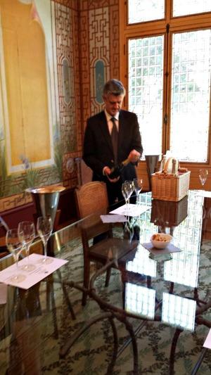 Champagneprovning hos Deutz