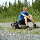 Dag 11 - Man blir rätt trött i kroppen efter ca 10 timmars vandring på vägar