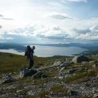 Dag 2 - Vacker utsikt över sjön Rogen från Tandsjövålen (993m ö.h.)