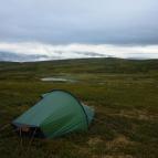 Dag 6 - Tältplats utanför Fältjägarstugan