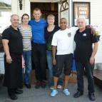 Dag 10 - Zoran, Dragana, jag, Jeanette, Affe & Rade utanför Surjämten