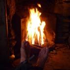 Dag 23 - Värmande brasa inne i Tjåkkelestugan
