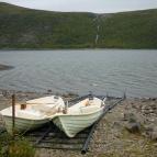 Dag 45 - Sista båtleden på expeditionen gick över Teusajaure