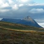 Dag 53 - Innanför den svenska gränsen syntes det karaktäristiska berget Pältsan (1442m ö.h.)