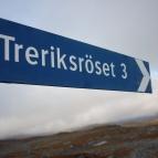 Dag 54 - När jag såg den här skylten blev jag glad, bara 3 km kvar!