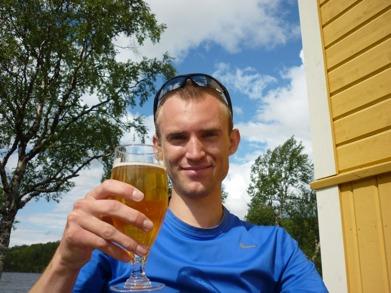 Dag 4 - Njuter av öl och solsken i Fjällnäs