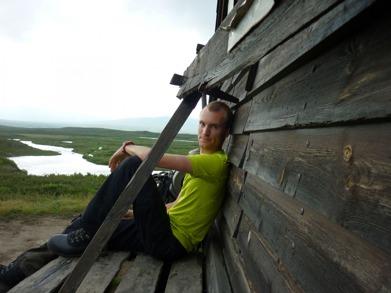 Dag 7 - Utvilad och torr efter en övernattning i rastskyddet vid Ljungan