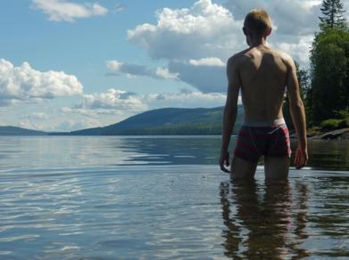 Dag 11 - Ett uppfriskande dopp i Kallsjön