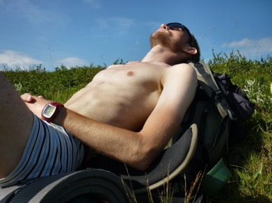 Dag 16 - Ovanligt varmt uppe på kalfjället
