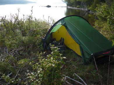 Dag 18 - Litet tält får plats på små ytor