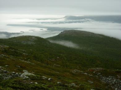 Dag 41 - Mystisk utsikt mot Tjaktjajaure