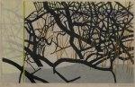 17) Vinterträd,20x33 cm, träsnitt,u.50