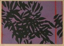 20) Bladverk, 18x26 cm, träsn. uppl.50