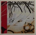 Vårvinter, träsnitt, 20x22 cm