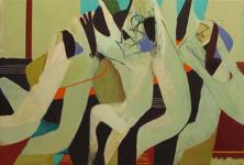 Dans,olja,65x105 cm